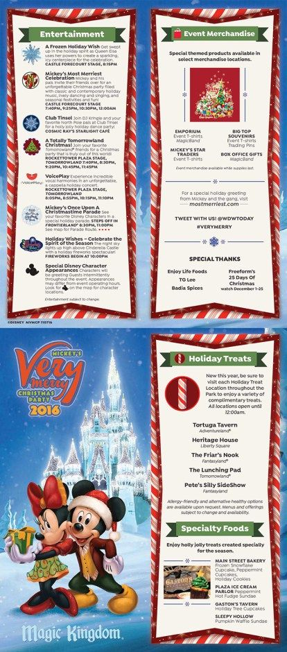 Mickey\u0027s Very Merry Christmas Party Tips Merry, Disney food and