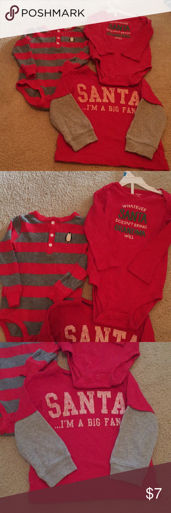 2f25cdcc3 3 piece carter s Christmas bundle All worn once except Santa onesie ...