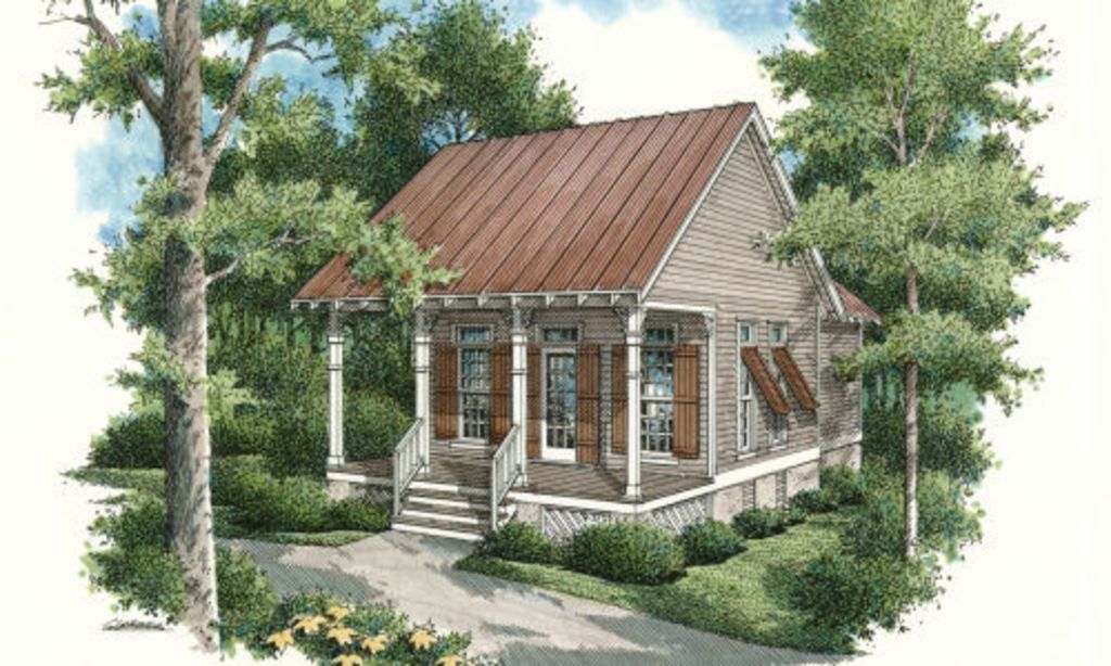 Cottage Style House Plan 1 Beds 1 Baths 569 Sq Ft Plan 45 334 Cottage Style House Plans Small Cottage House Plans Small Cottage Homes