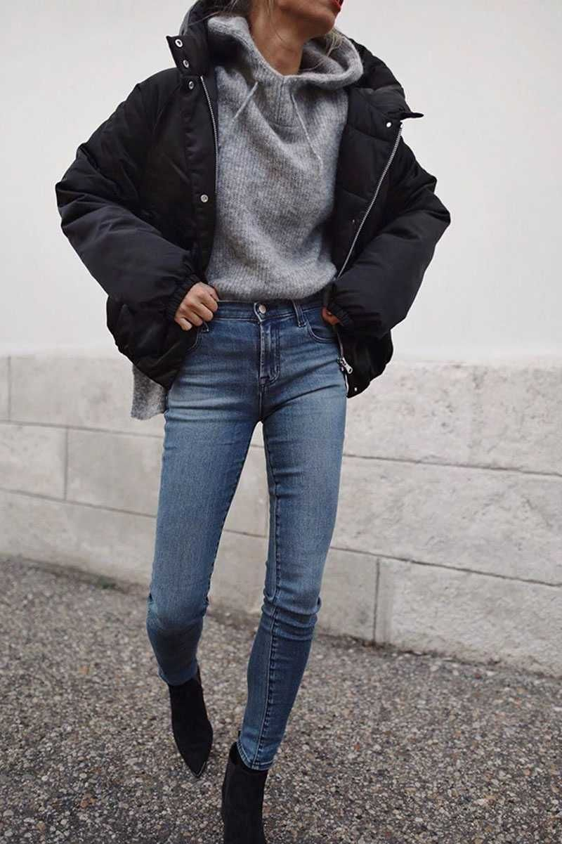 High Collar Oversized Puffy Puffer Bomber Jacket Padded Puffer Jacket Outfit Jacket Outfit Women Winter Jacket Outfits [ 1201 x 800 Pixel ]
