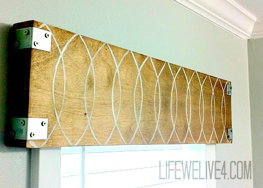 Room Eclectic Wooden Valance