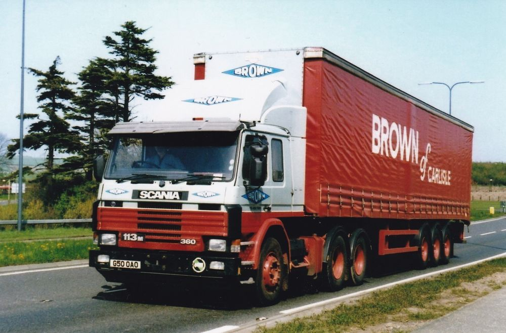 Col Photo Brown Of Carlisle Scania 113 Artic Curtainside Trailer