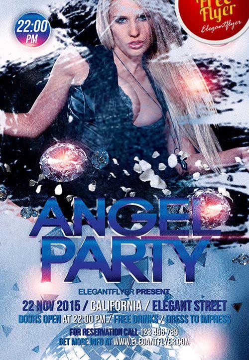 angel party free psd flyer template httpfreepsdflyercomangel