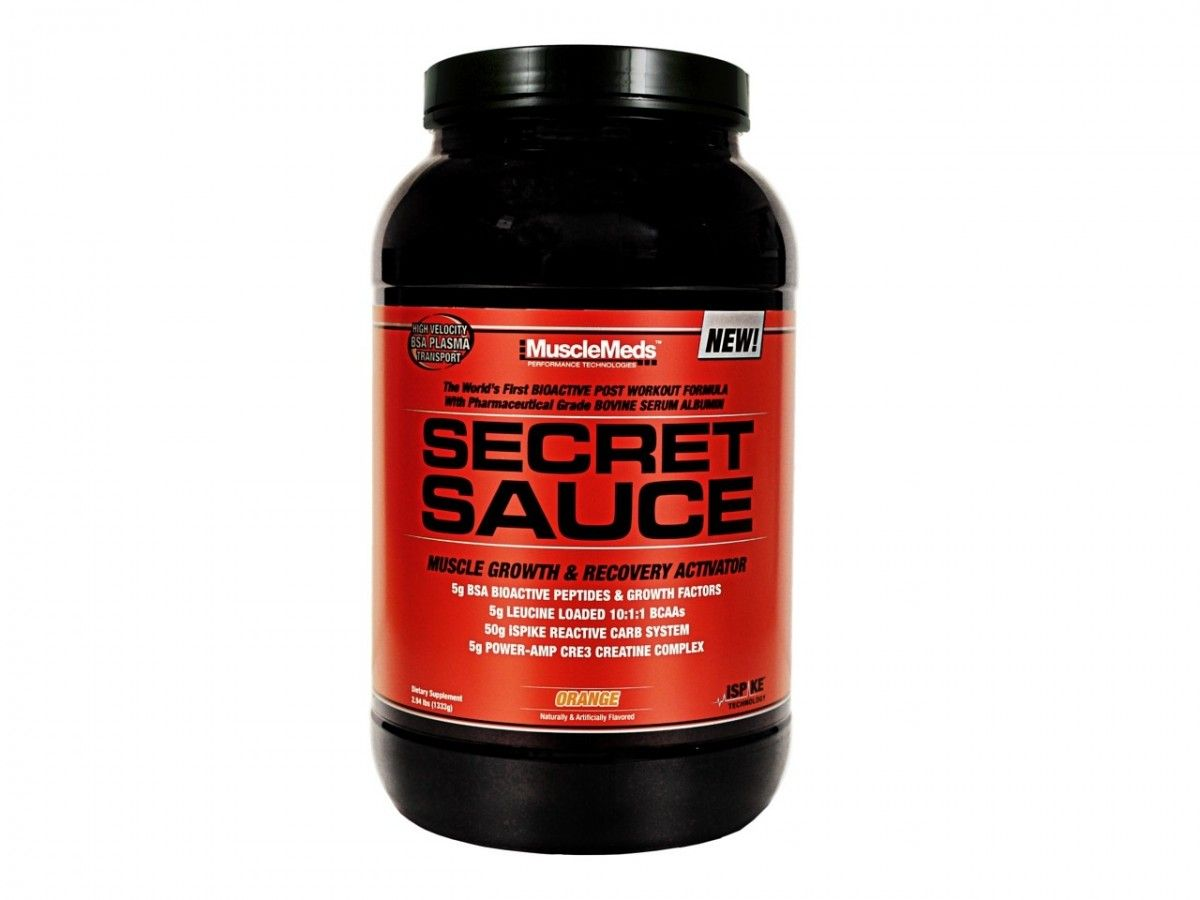 MuscleMeds Secret Sauce is a new post-workout muscle growth activator. Secret Sauce was designed with the latest bioactive peptides technology.