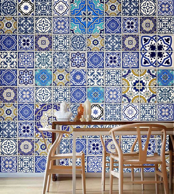 Talavera Traditional Tiles - Tile Decal - Kitchen Tiles - Backsplash