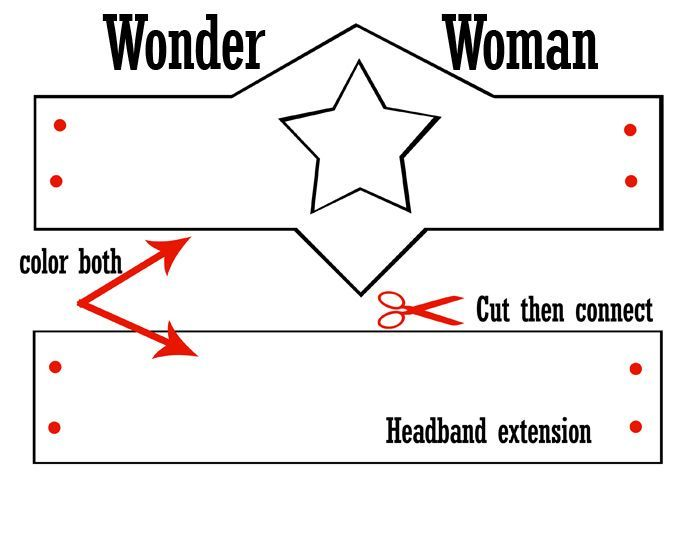 Wonder Woman Crown Template - Google Search | Patterns | Pinterest