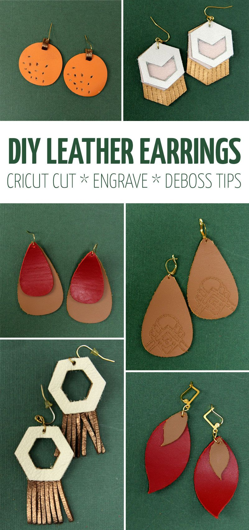 DIY Leather Earrings + Cricut Tips and Tricks in 2020