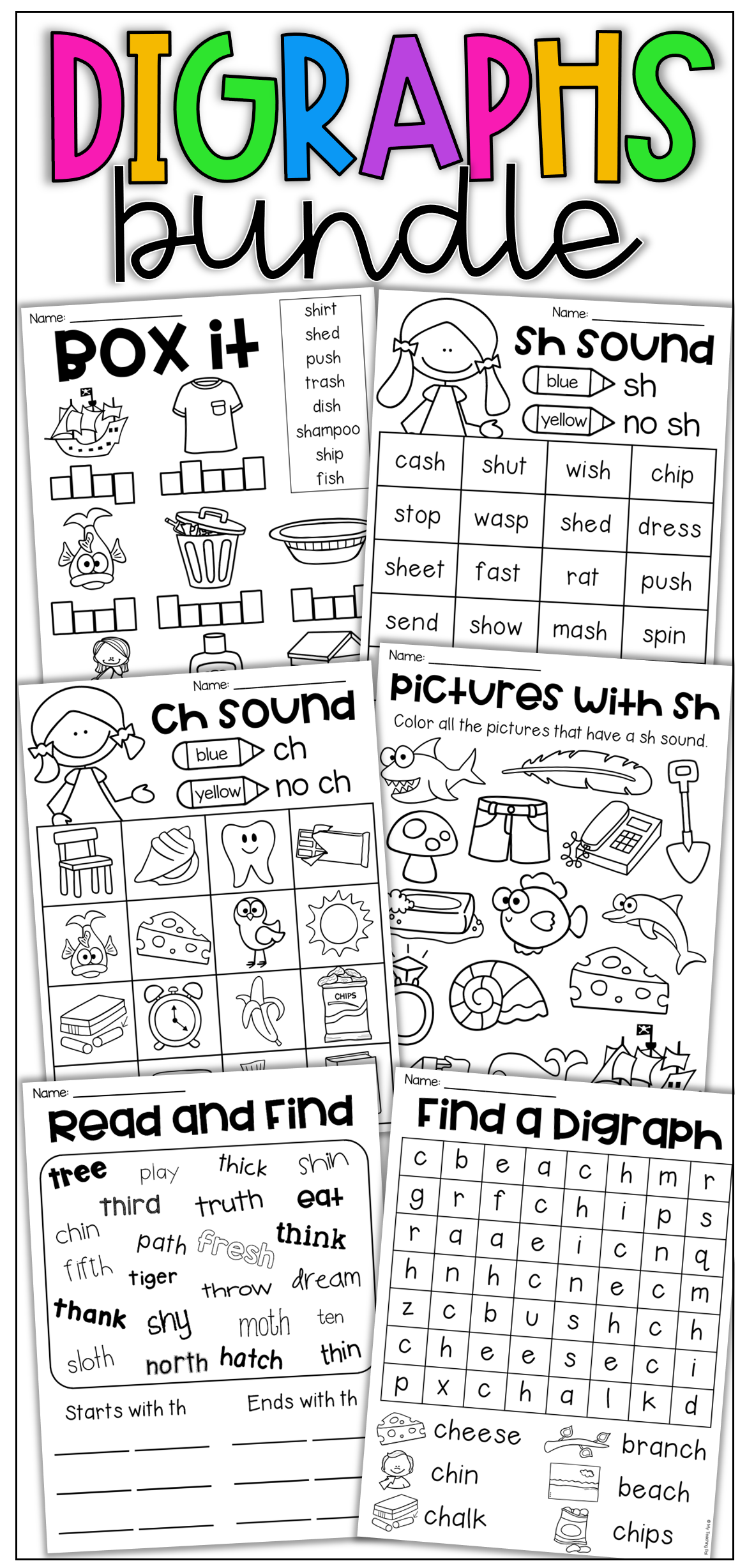 Digraph Worksheet Bundle