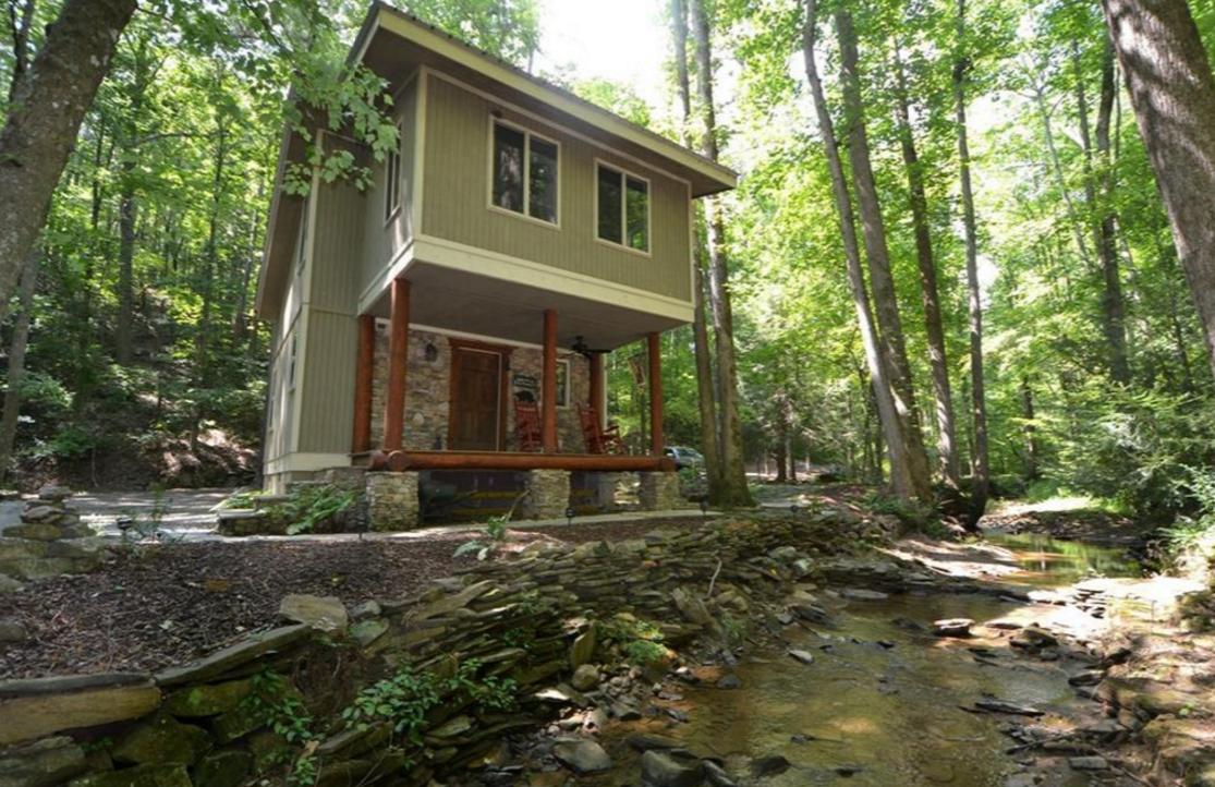 Jasper Georgia Creekside Woodland Cabin For Sale Real Estate