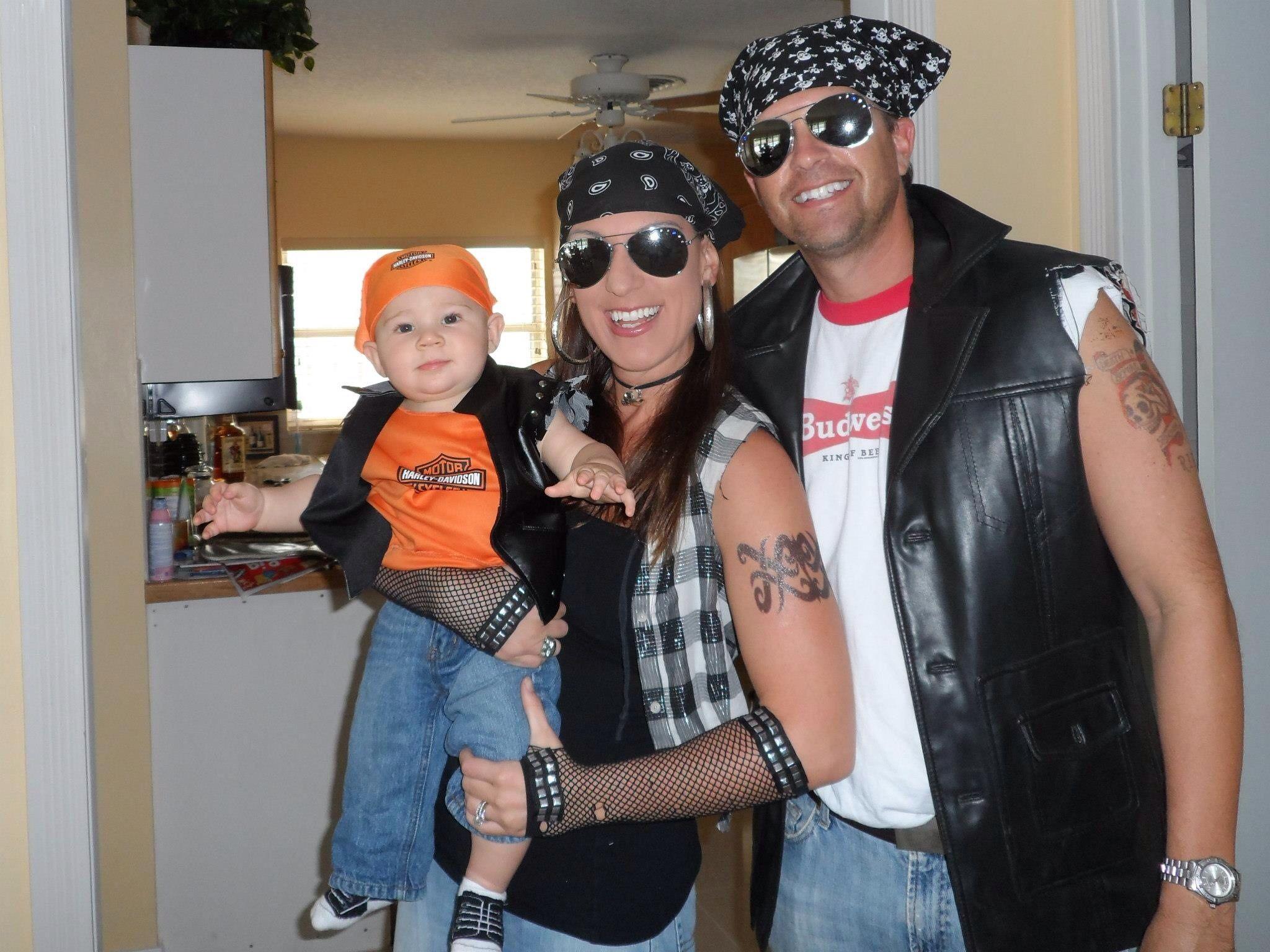 Family Halloween costumes- biker fam | Fall/Halloween | Pinterest ...
