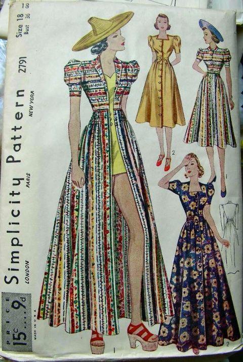 0020bc1a112d Vintage sewing pattern 1930s 1940s palazzo pants wide leg trousers lounge  blouse sash belt bust 32 34 36 38 40