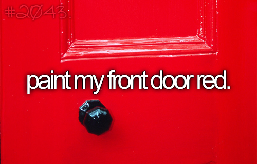 paint my front door red