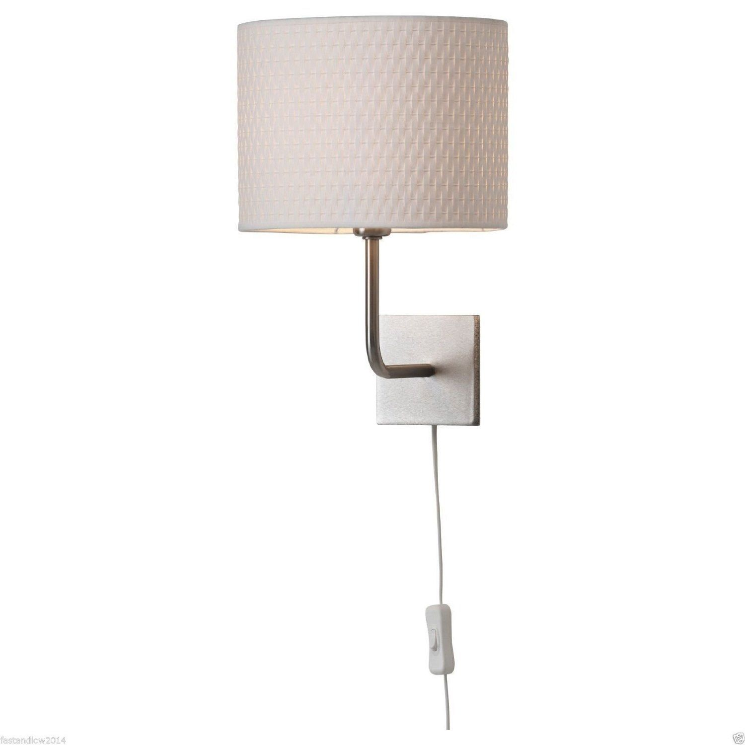 Superior Ikea Alang Wall Lamp, Nickel Plated, White   Wall Sconces   Amazon.com