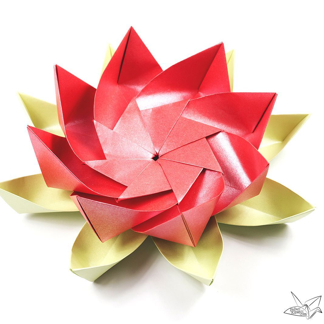Just posted the tutorial for this origami lotus flower https instagram post by paper kawaii origami mar 20 2017 at 602am utc origami paperpaper quillingdiy izmirmasajfo Images