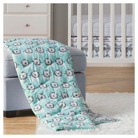 Sabrina Soto™ Leo Crib Bedding Set (3pc) - Turquoise : Target
