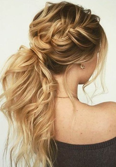 Sensational Half Braids Pony Hairstyles 2019 for Women with Long Hair Hair styles Medium hair