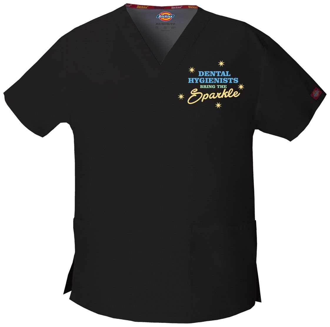 Dental Hygienists Bring The Sparkle - Embroidered Scrub / Embroidered  Medical Srcubs Tops