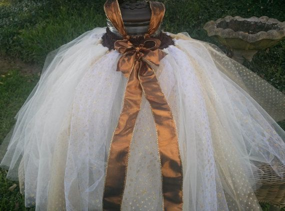 Bronze and Champagne Holiday Tutu by UbuTutus on Etsy, $55.00