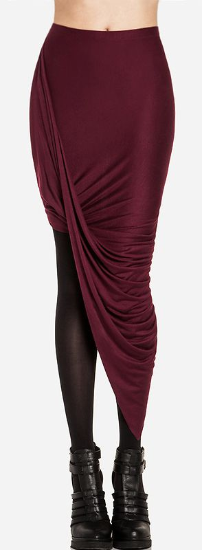 Bordeaux twist skirt
