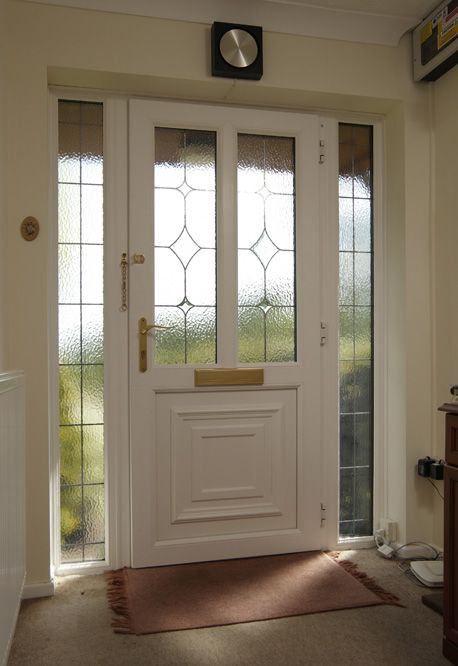 Anglian upvc with leading side panel equivalent over the for Side doors for houses