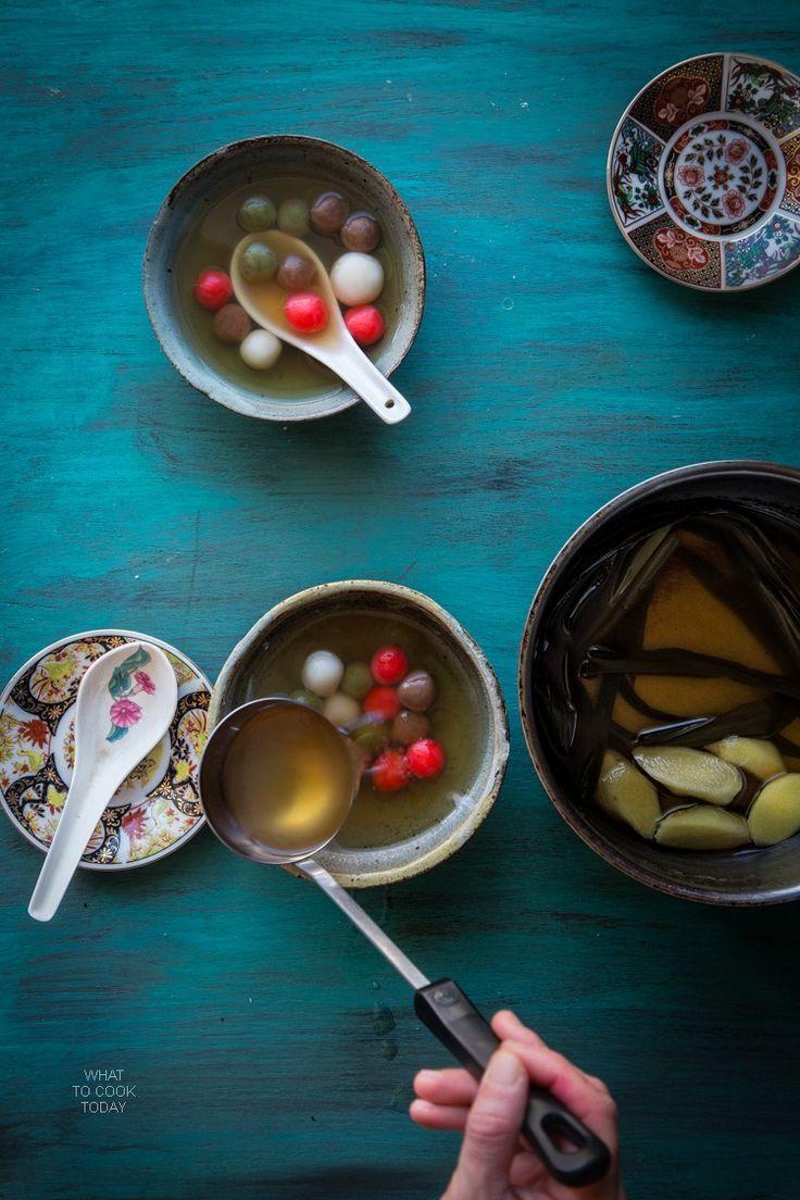 Glutinous rice dumplings (Tang Yuan) | Chinese dessert ...