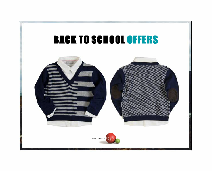 #Bóboli #boys layered navy and grey knitted #sweater with white shirt details on sale at www.kidsandchic.com #shopnow at www.kidsandchic.com/boboli-boys-sweater-alaska-ice.html #backtoschool #deals #kidsfashion #kidsandchiccom #shoponline #barcelona #vaqueros #vueltaalcole #descuentos #modainfantil #niños