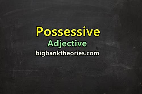 Possessive Adjective In English Grammar Materi Bahasa Inggris Materi Bahasa Bahasa Inggris