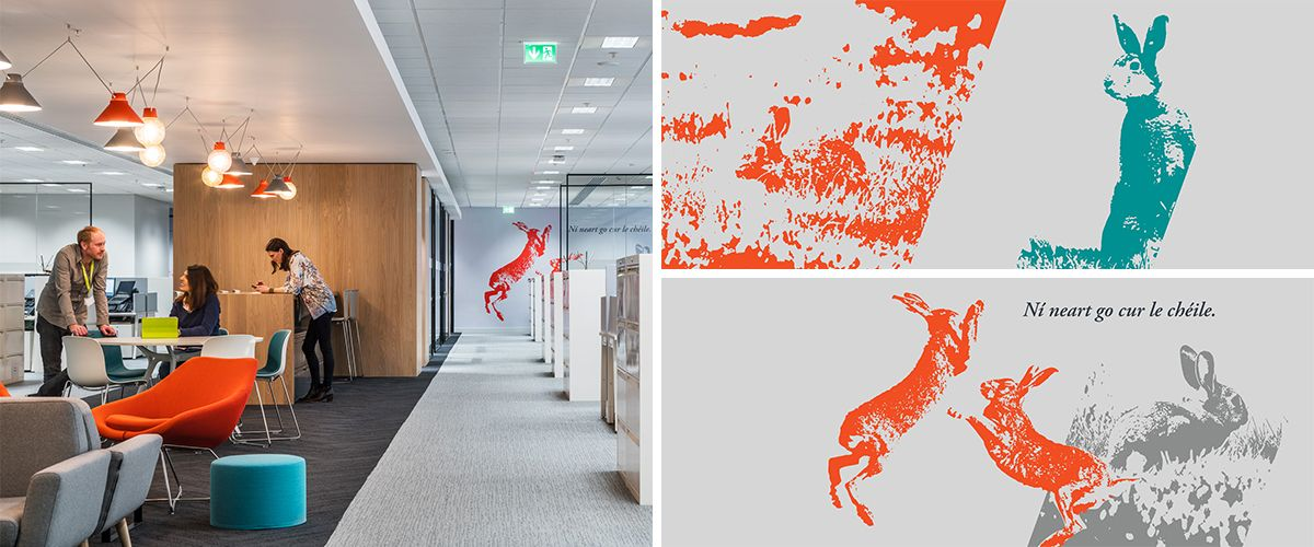 Designfolk - Environmental graphics for Hewlett Packard, Leixlip, Dublin