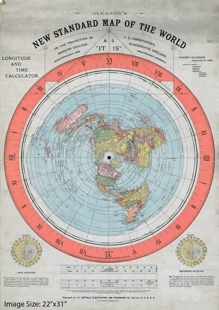 Gleason S New Standard Map Of The World Sacred Geometry Map