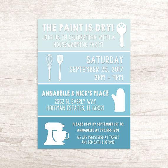 Housewarming Invitation | Fun Paint Swatch Housewarming Invitation