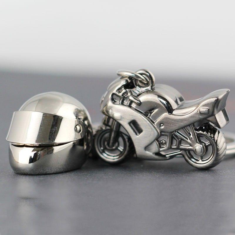 So Cool Creative Model Helmet Keychain Men Motorcycle Bicycle