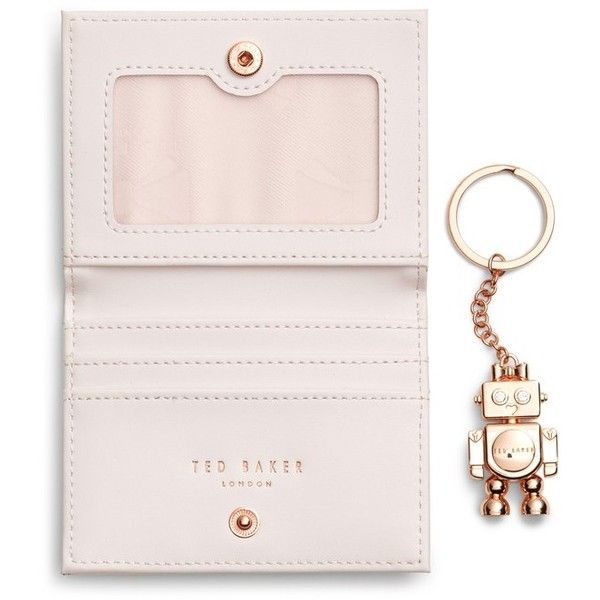 1225a5cd9 Women s Ted Baker London Leather Card Case With Robot Key Chain ( 47) ❤  liked on Polyvore featuring bags