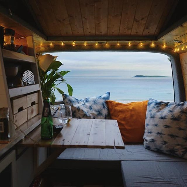 Photo of 🌊 Everything in the van is still a novelty for us; making the bed, brewing co…