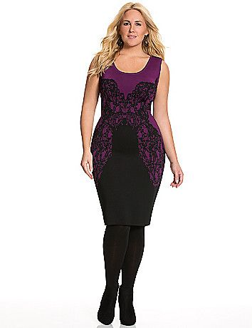 Lace Intarsia Sweater Dress By Lane Bryant Lane Bryant I Want