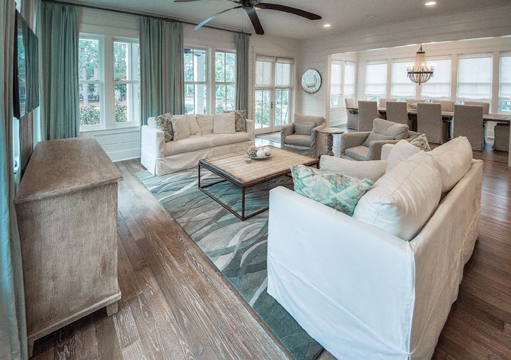lovely beach house living room | WaterColor Beach Home | Lovely Living Rooms | Beach house ...