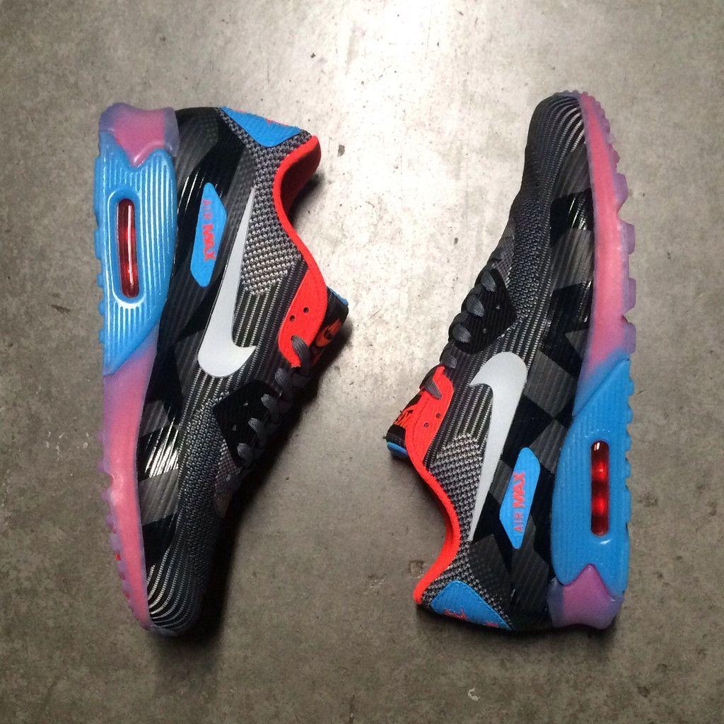 Nike Air Max 90 Kjcrd Qsp Glace Gris Foncé / Gris Loup