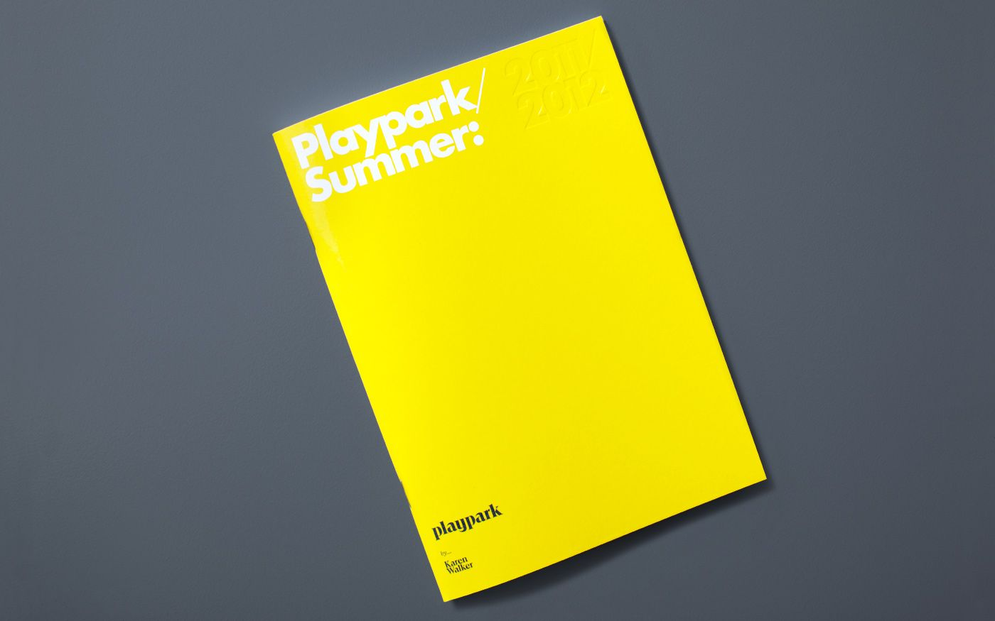 Brogen Averill – Identity for Playpark by Karen Walker