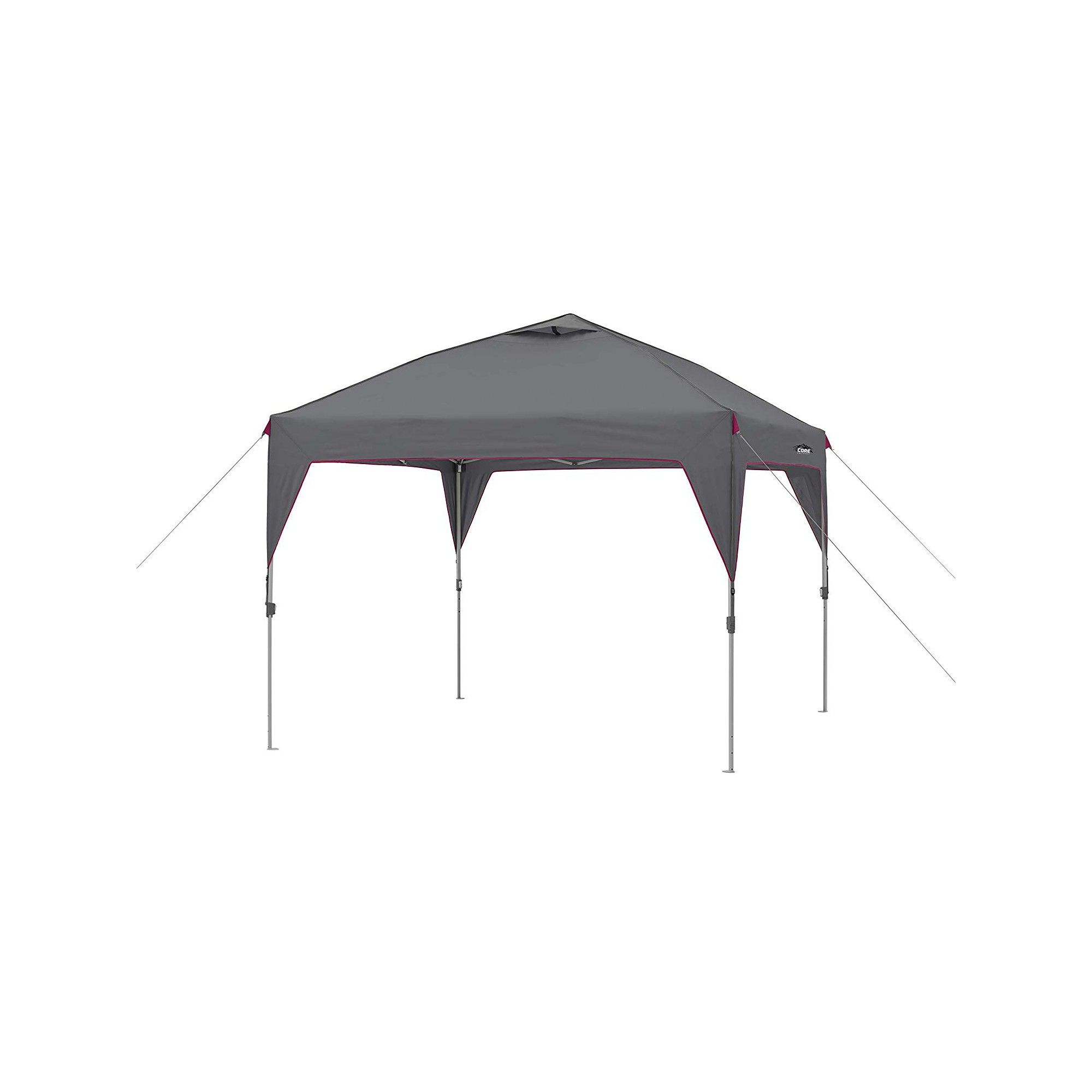 Core Instant Canopy 10 X 10 Foot Outdoor Pop Up Shade Canopy Shelter Tent Gray Instant Canopy Shade Canopy Canopy