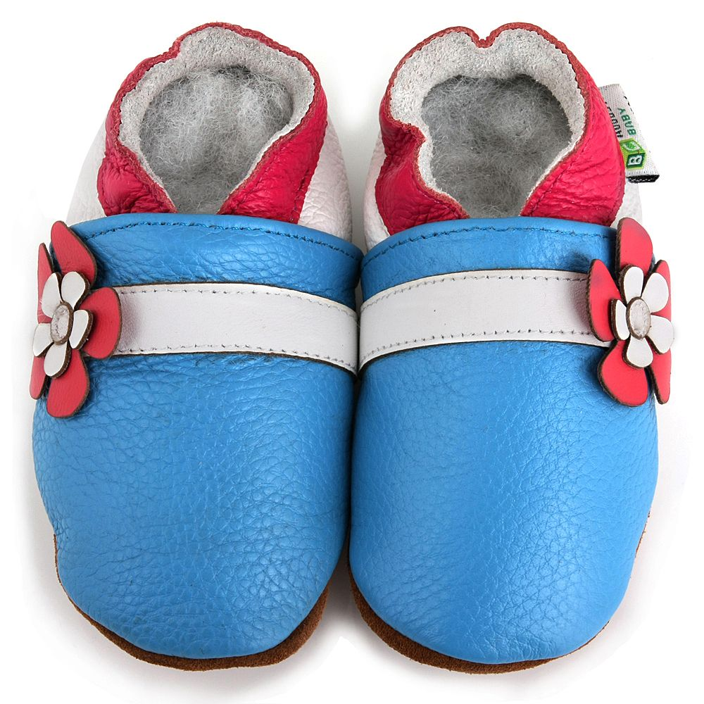 Hawaii Flower Soft Sole Slip-On Baby Shoes