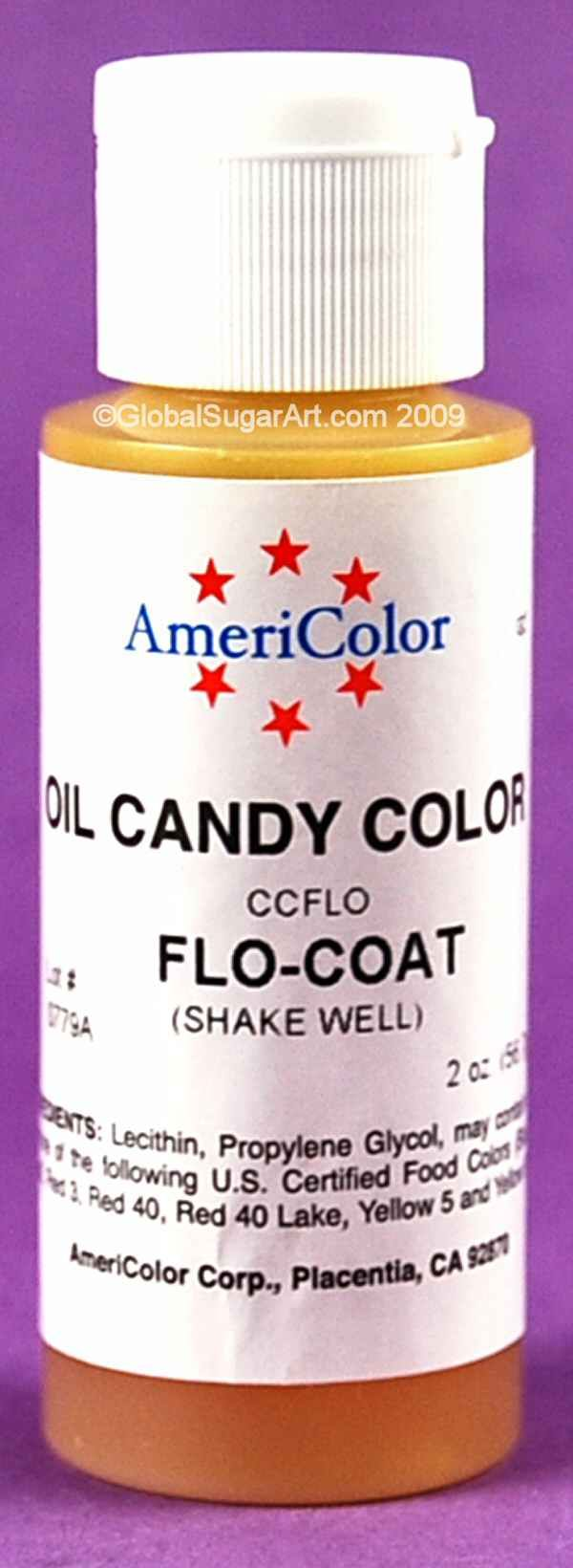 FLO-COAT Oil-Based Candy Color (2 ounces) by Americolor - Flo-coat ...