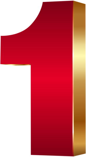 This Png Image 3d Number One Red Gold Png Clip Art Image Is Available For Free Download Clip Art Art Images Gold Wallpaper Background
