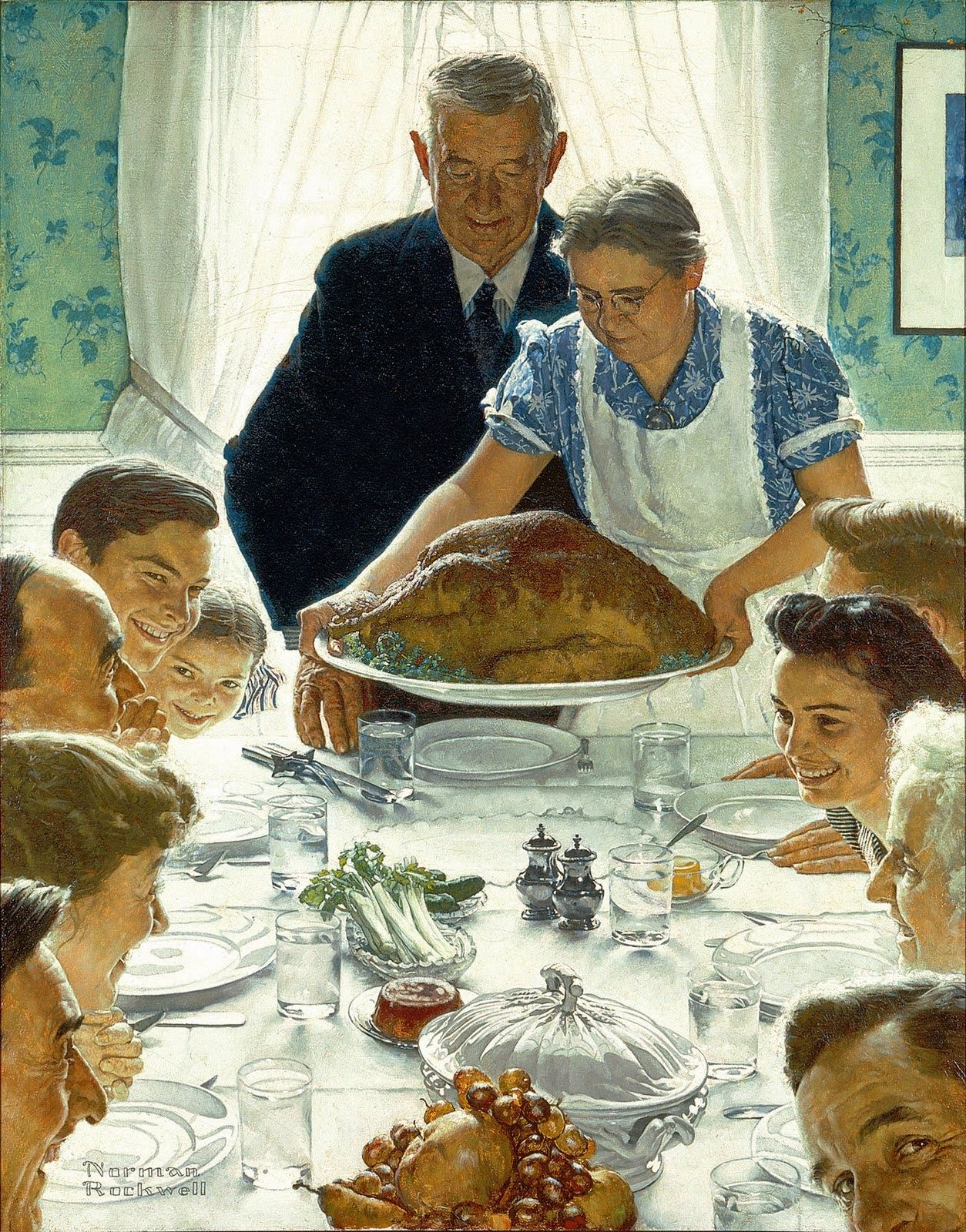 Norman Rockwell : Freedom From Want, 1943 | Art | Pinterest | Norman ...