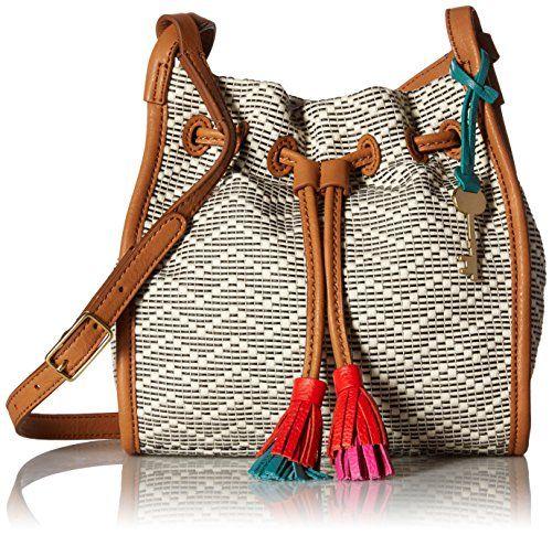 2017 Shoulder Bags Fossil Claire Mini Drawstring Bag, Neutral Stripe
