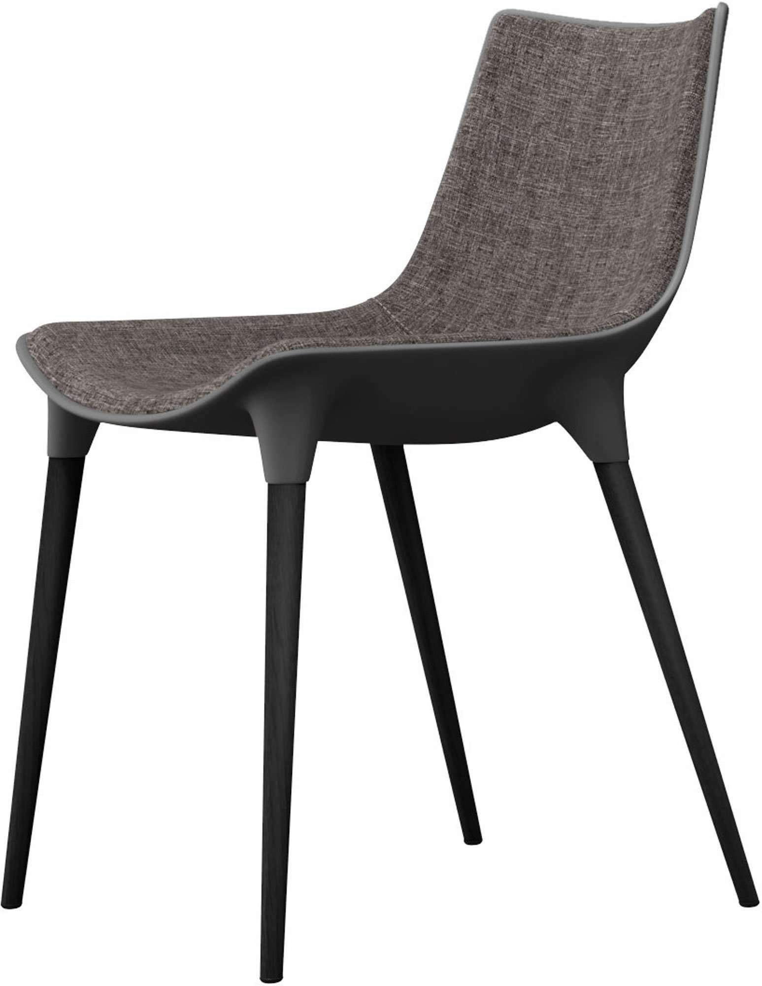 Langham Dining Chair Fabric - Charcoal | Dining chairs ...