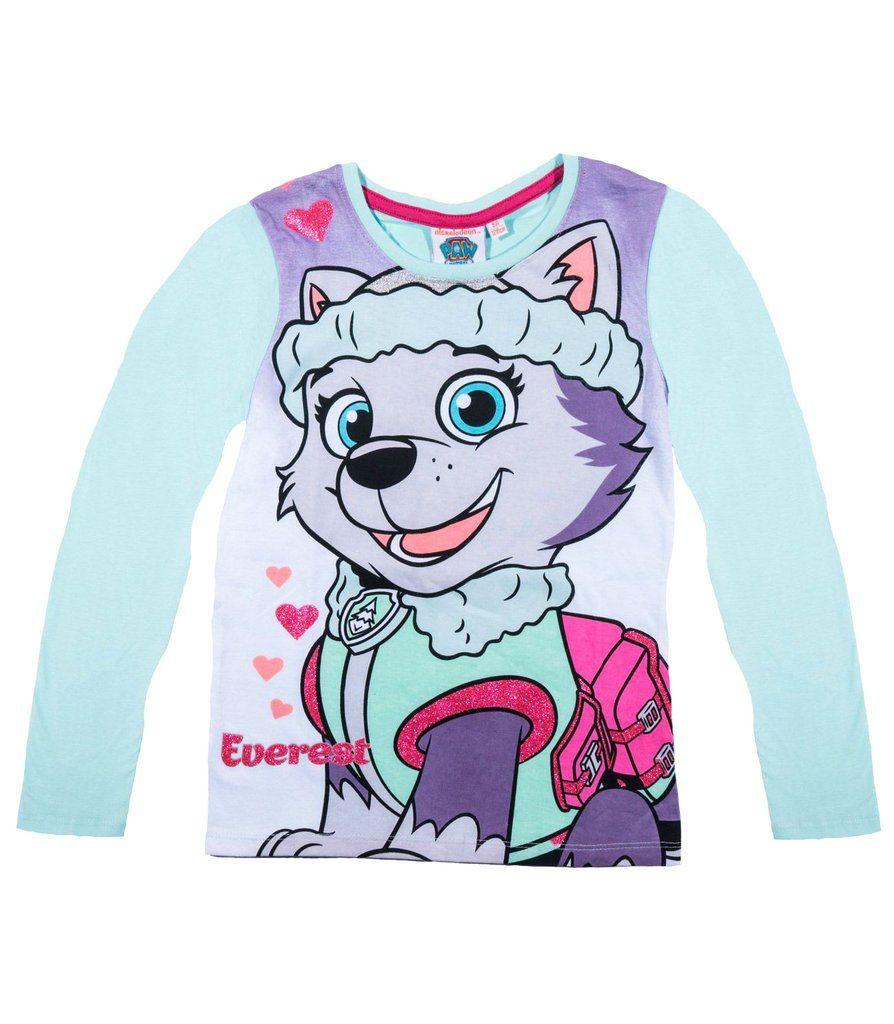 8de42e16d Paw Patrol Girls Long Sleeve Top T-Shirt 100% Cotton 2-8 years ...