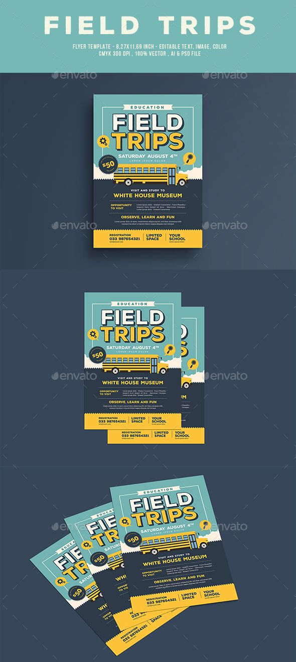 Field Trip Flyer Field Trips Flyer Template And Template