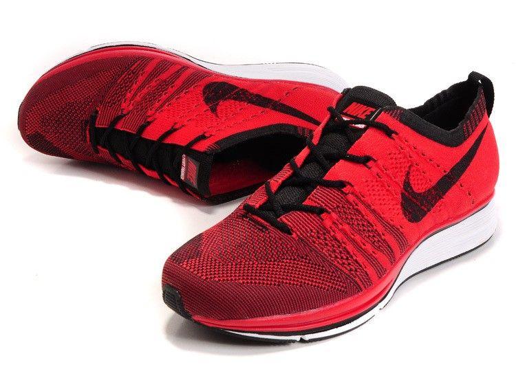 Hombre Nike University Rojos/Blanco/Negro 532984-610 Flyknit Trainer+  Training Zapatillas Online