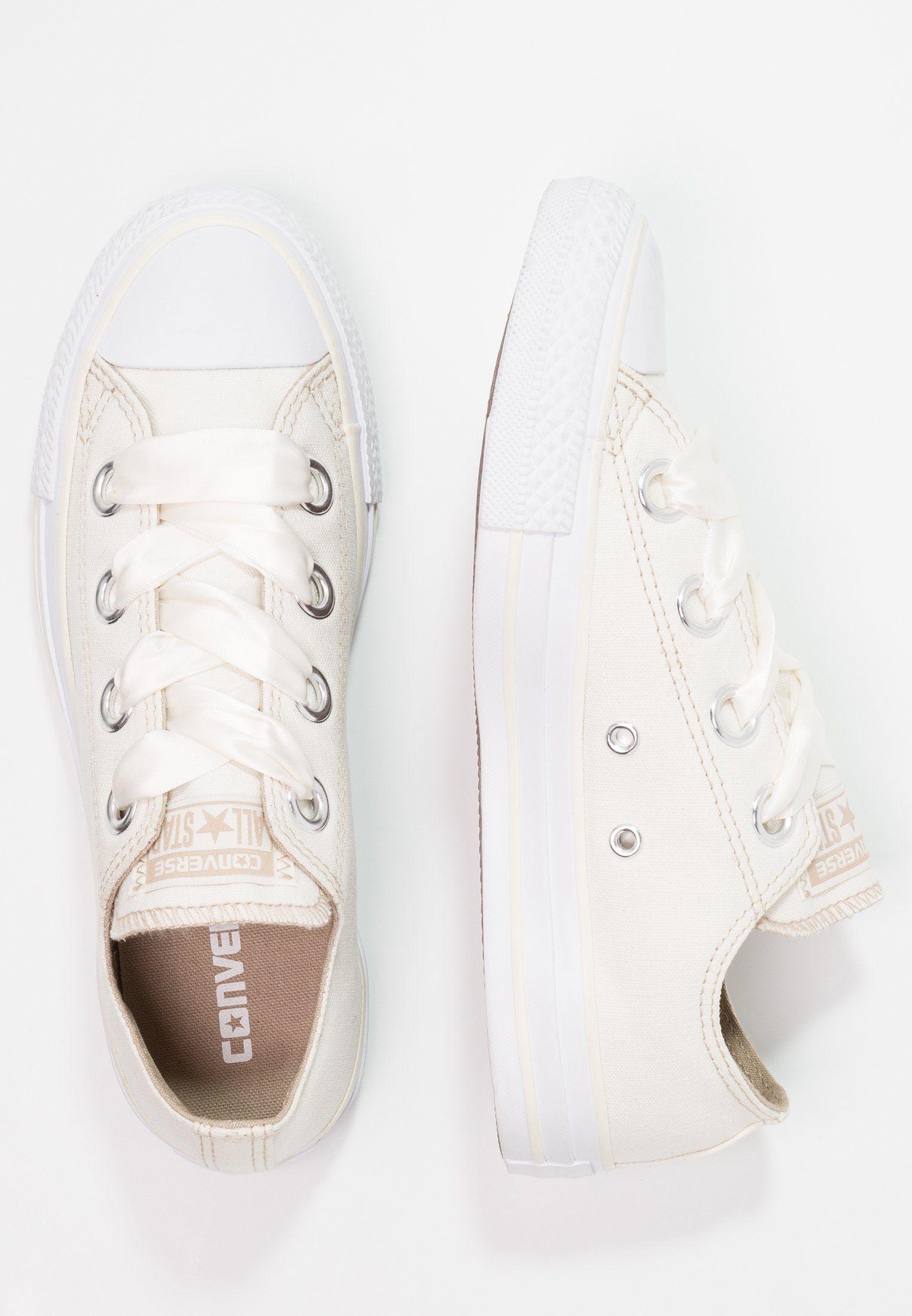 Converse CHUCK TAYLOR ALL STAR BIG EYELETS - Trainers - egret/vintage khaki/white