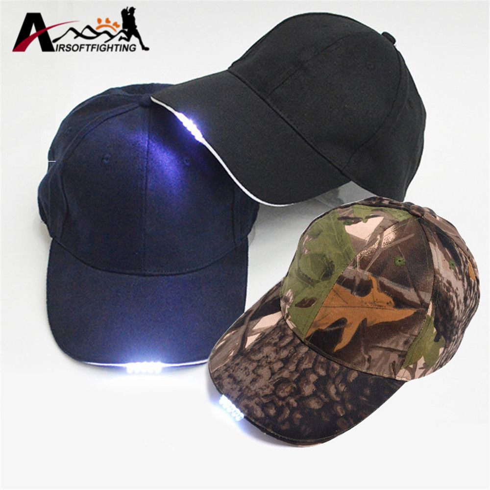 f1610e3c183 Outdoor Hunting 2 Modes LED Glowing Cotton Cap Super Bright 5LED Cap Glow  in dark for Night Fishing Hiking Climbing
