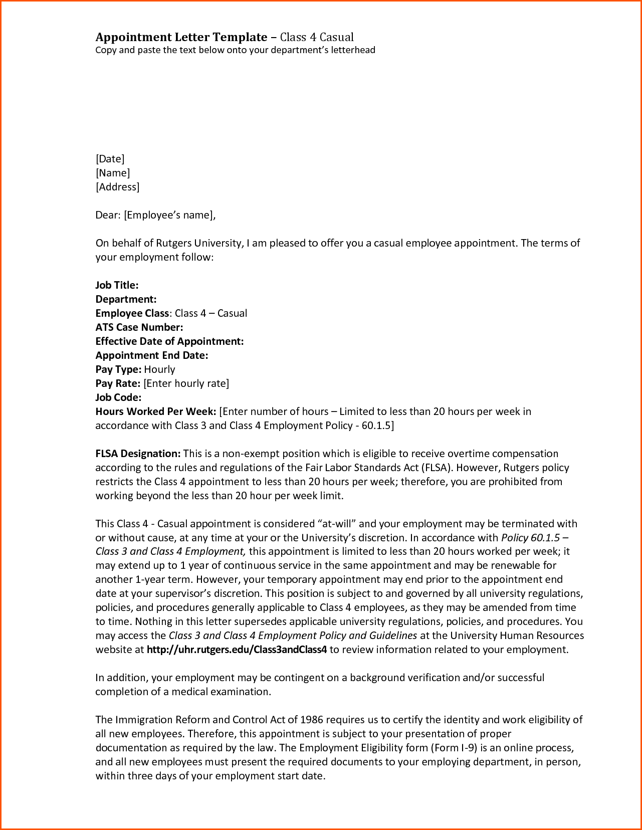 Appointment Letter Sample For Medical Officer Civil Vice President